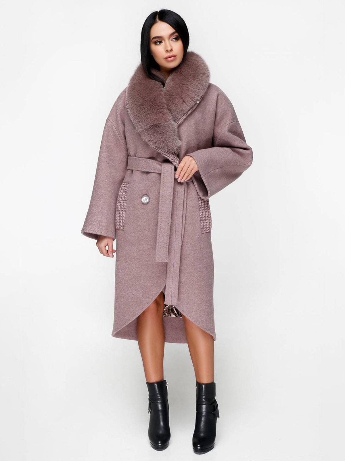 Пальто бежево-розовое | 4711655
