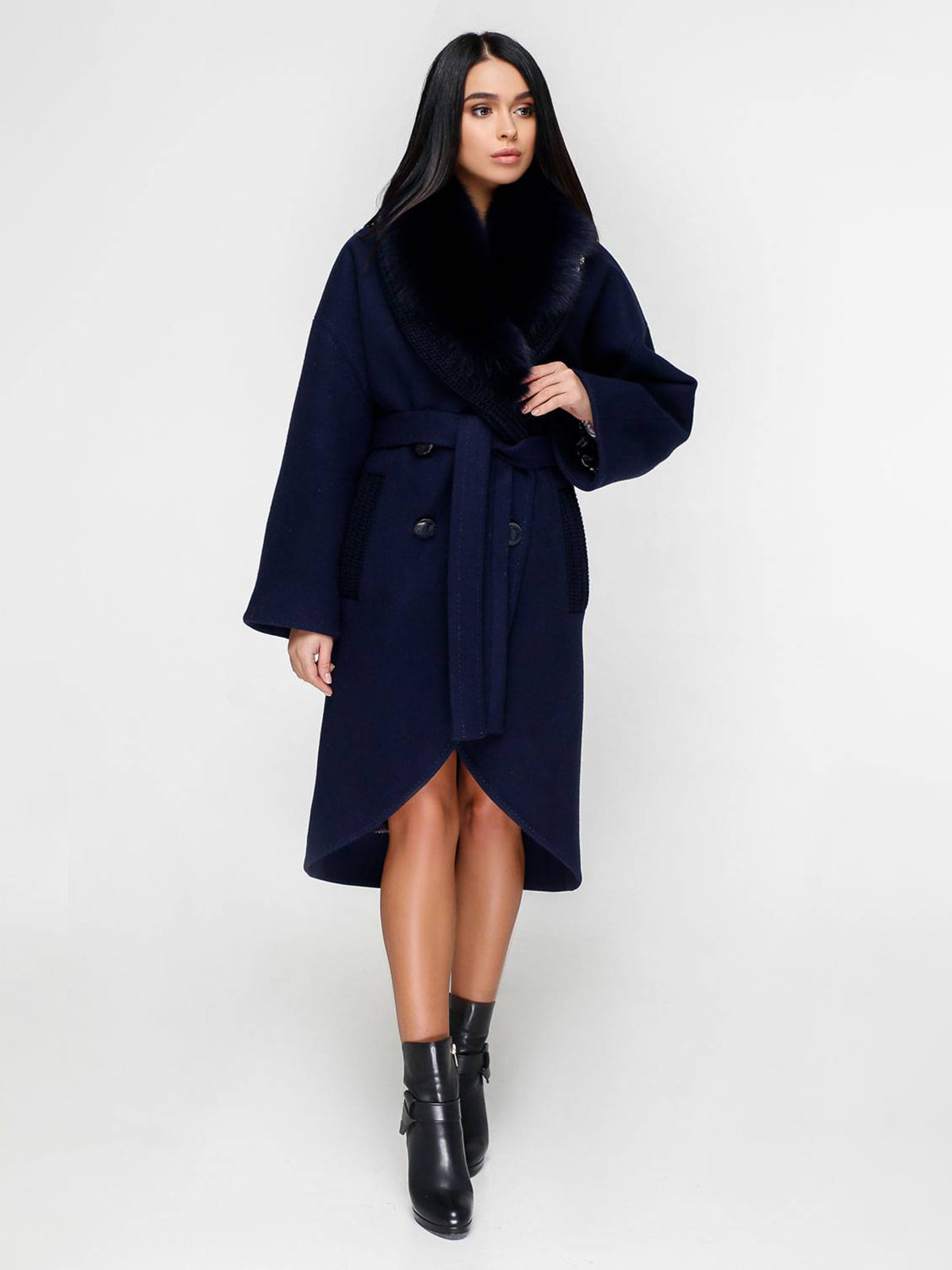 Пальто синє | 4711658