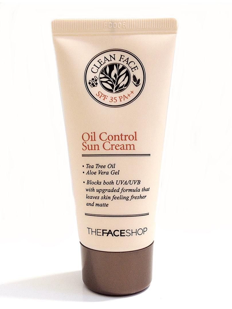 Сонцезахисний крем Clean Face Oil-Control Sun Cream SPF35 (50 мл) | 4712298