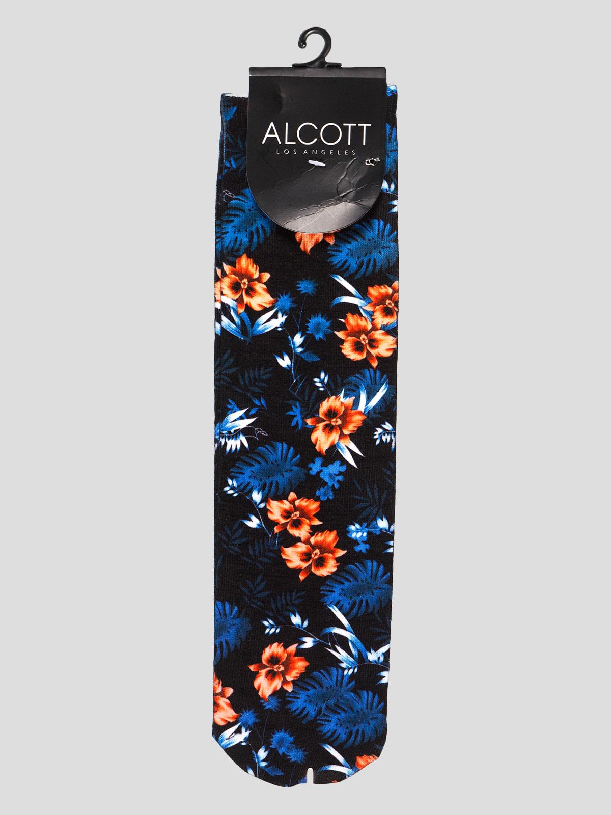 Шкарпетки в квітковий принт | 4627089