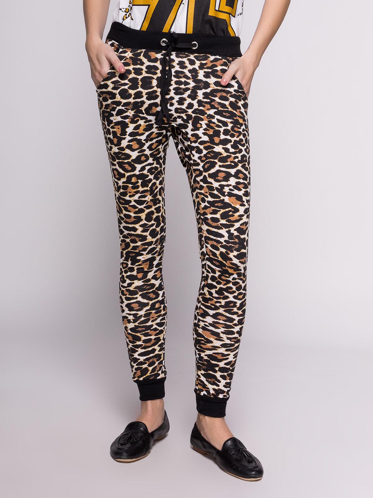 Штани в леопардовий принт | 4628711