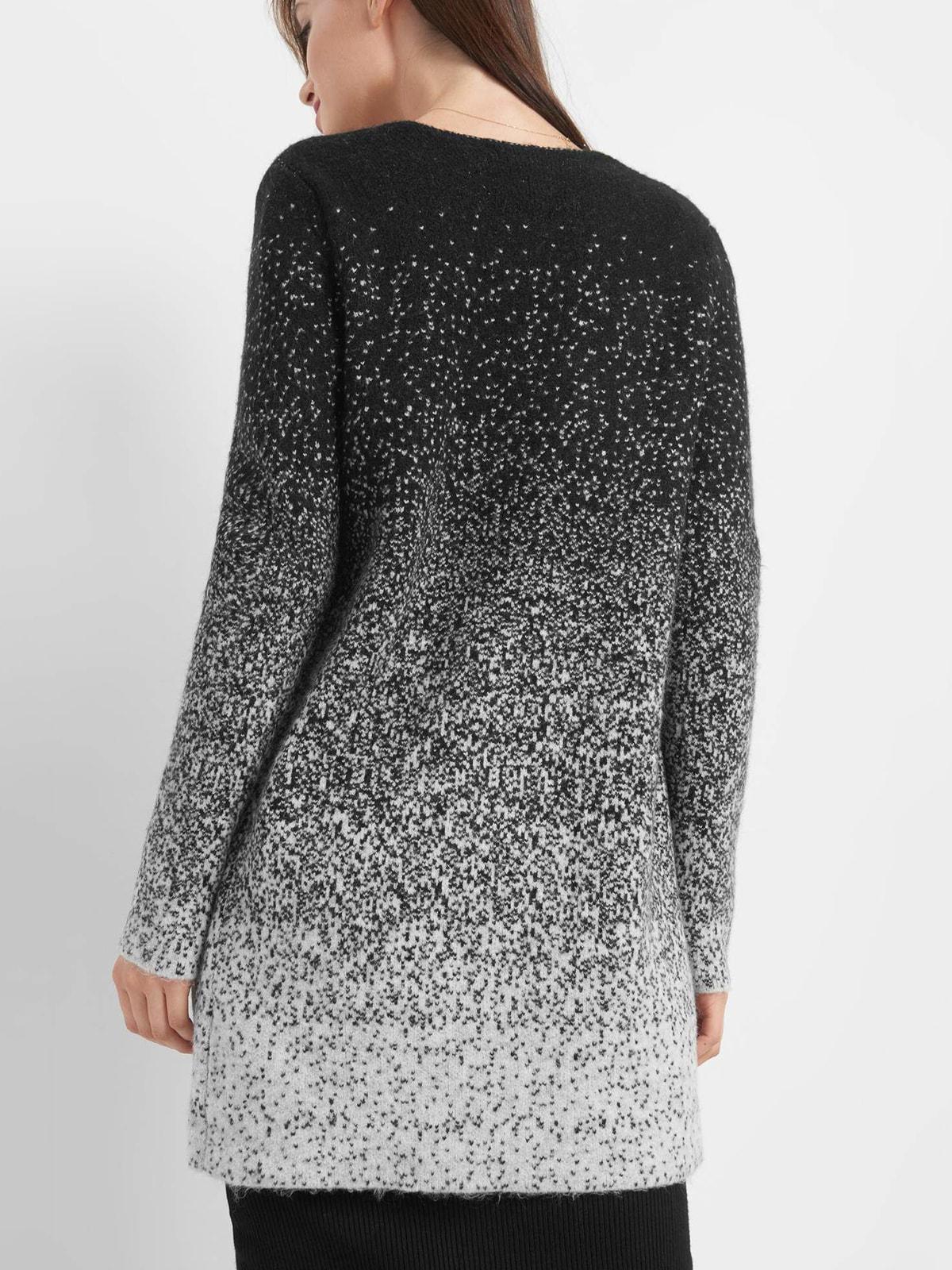 Кардиган черно-серый | 4710656