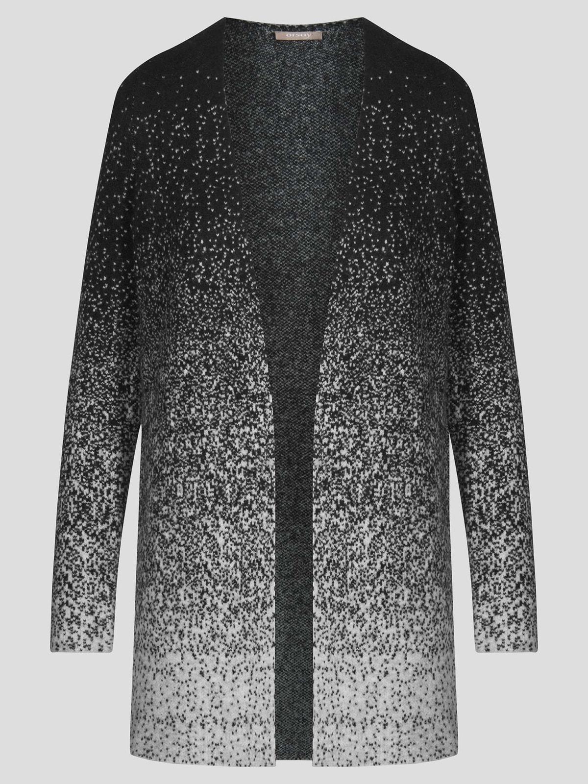 Кардиган черно-серый | 4710656 | фото 3