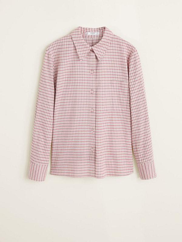 Рубашка розовая в клетку | 4713842 | фото 3