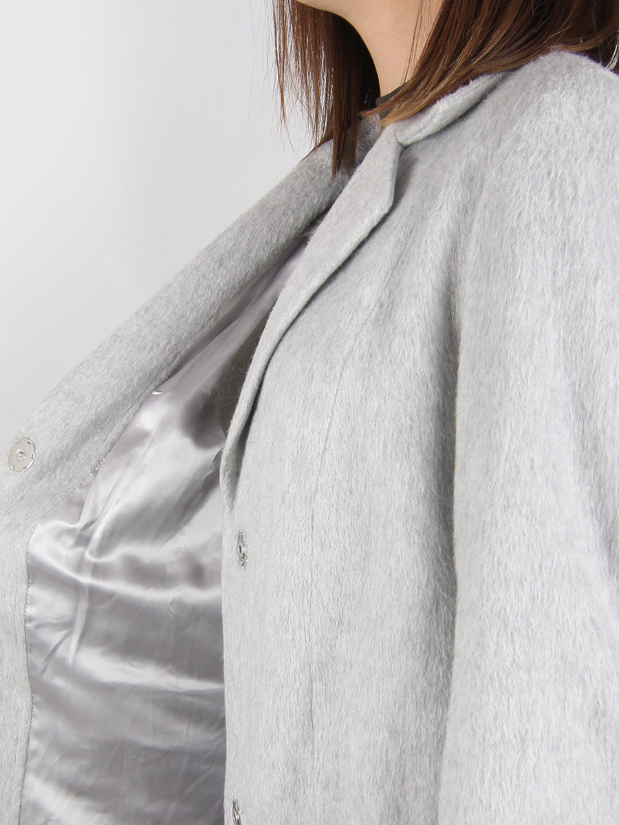 Пальто светло-серое | 4456357 | фото 4