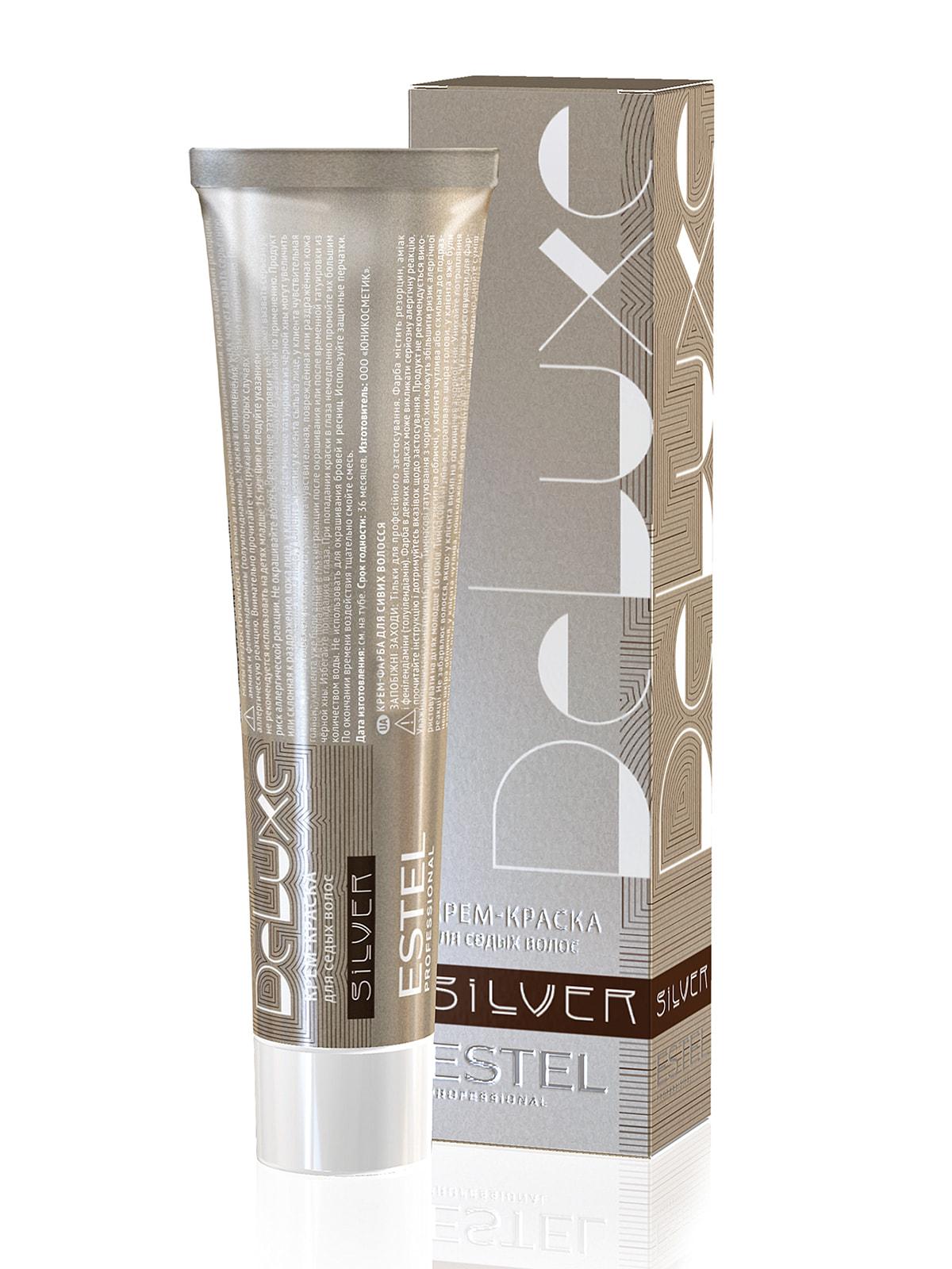 Крем-краска De Luxe Silver - светло-русый золотисто-пепельный (60 мл)   4693795   фото 2