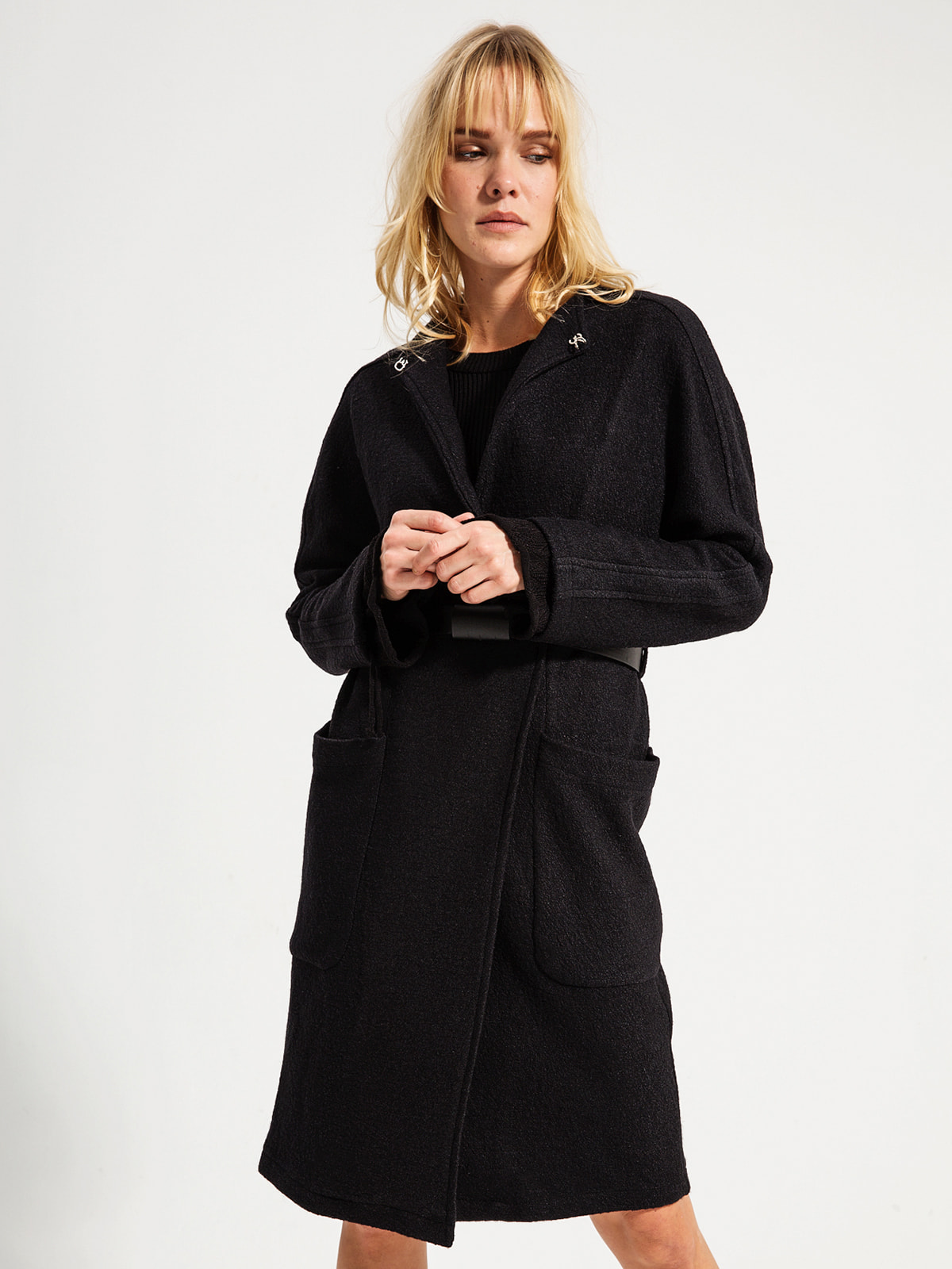 Пальто черное | 4716496 | фото 3
