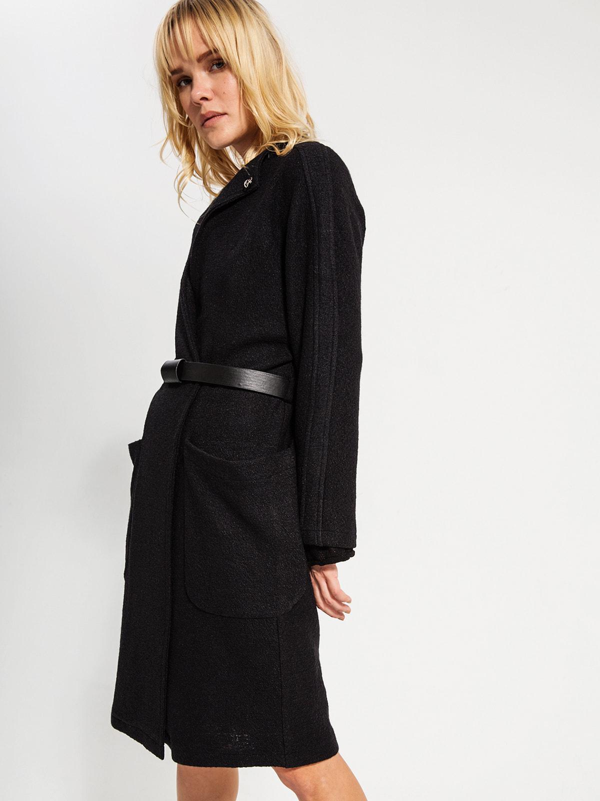 Пальто черное | 4716496 | фото 5