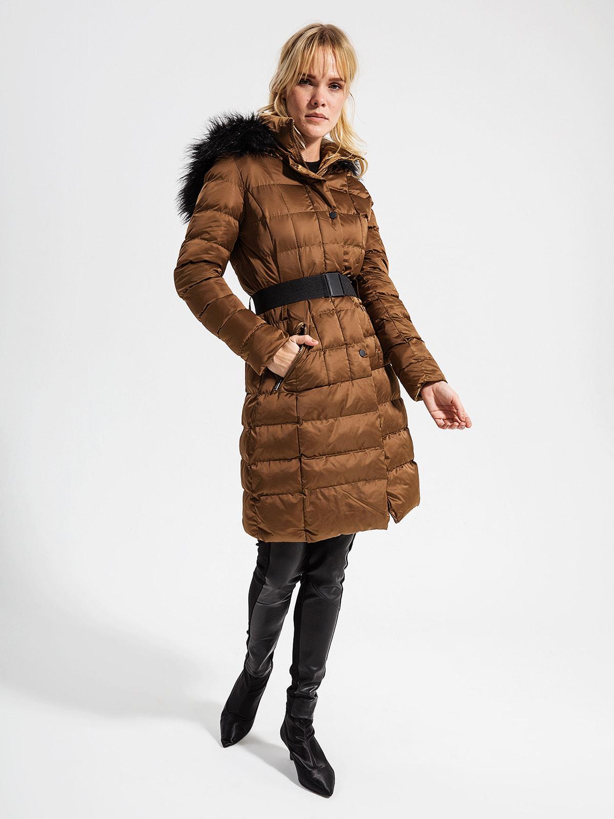 Пуховик коричневий | 4716497
