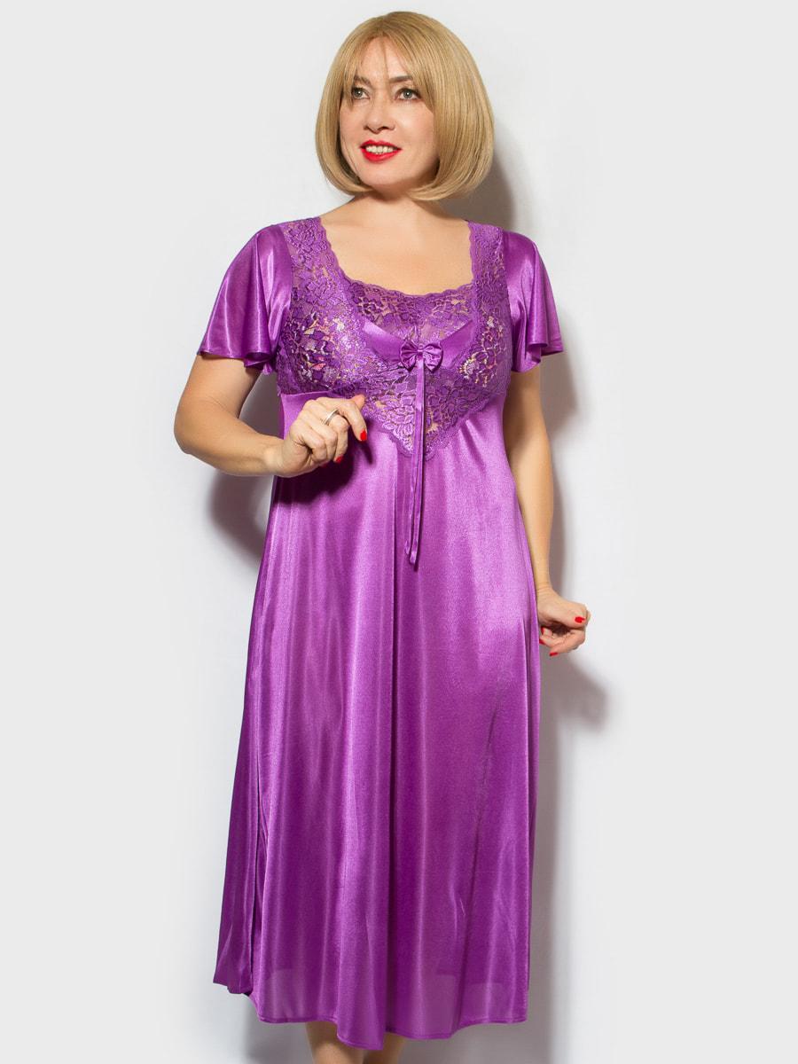 Рубашка ночная фиолетовая | 4706875