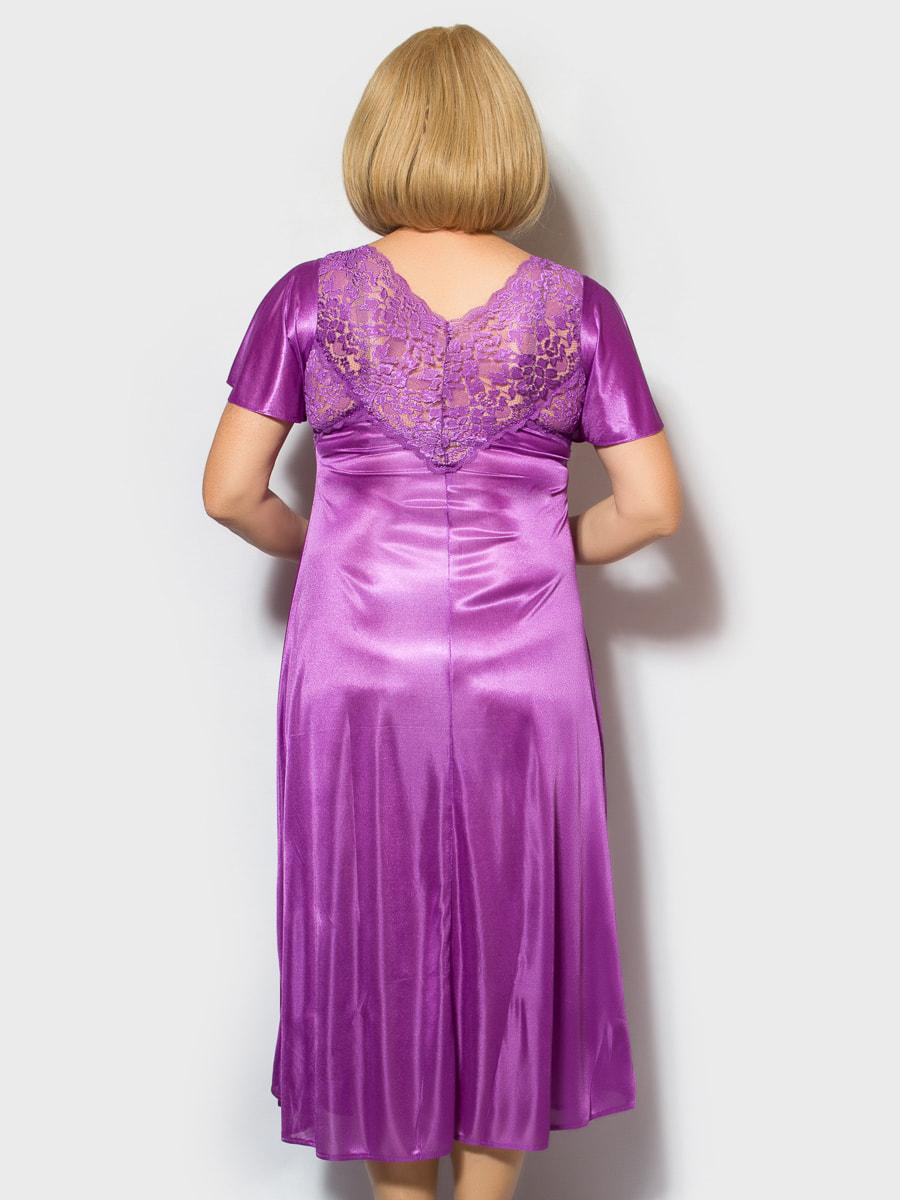 Рубашка ночная фиолетовая | 4706875 | фото 2