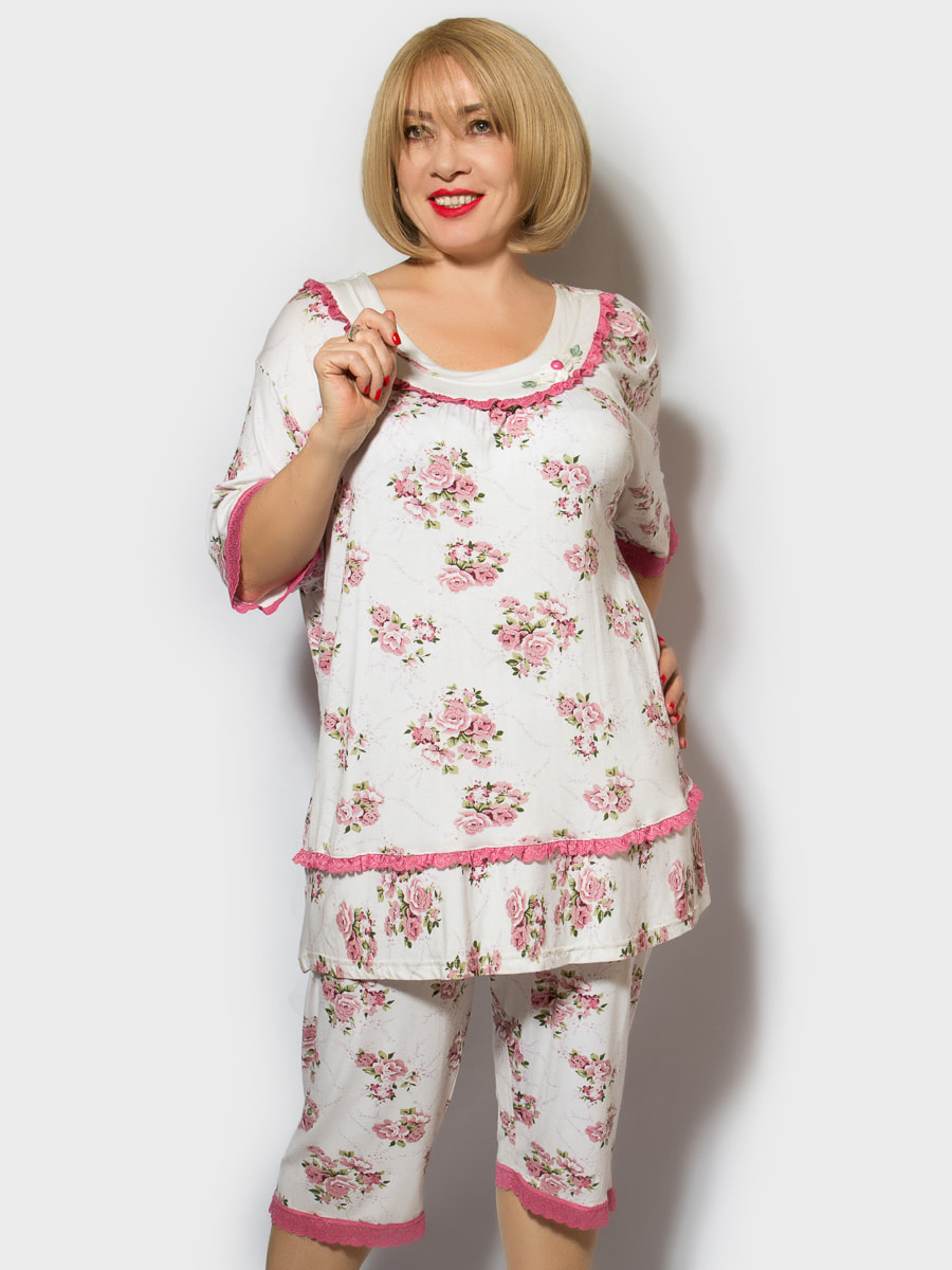 Пижама: футболка и шорты   4706878