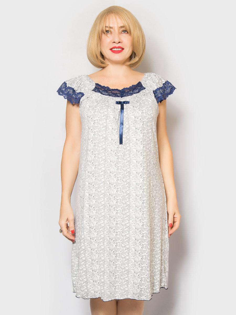 Рубашка ночная в цветочный принт | 4718022