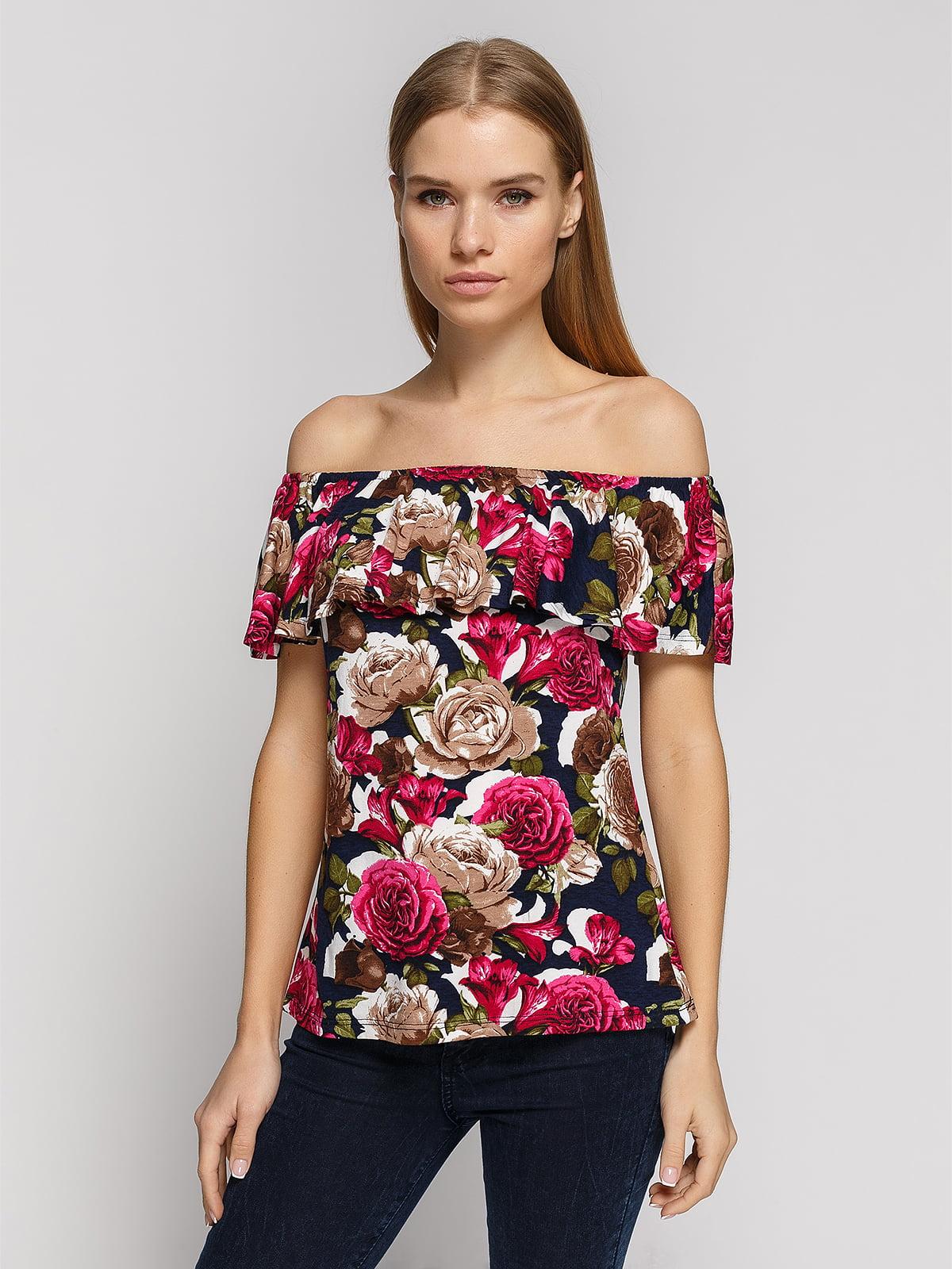 Блуза в квітковий принт   4708647