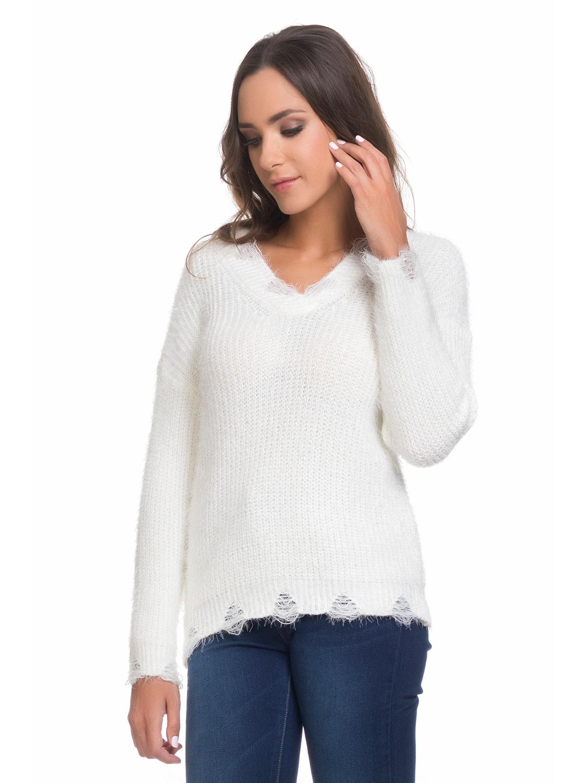 Пуловер білий | 4679059
