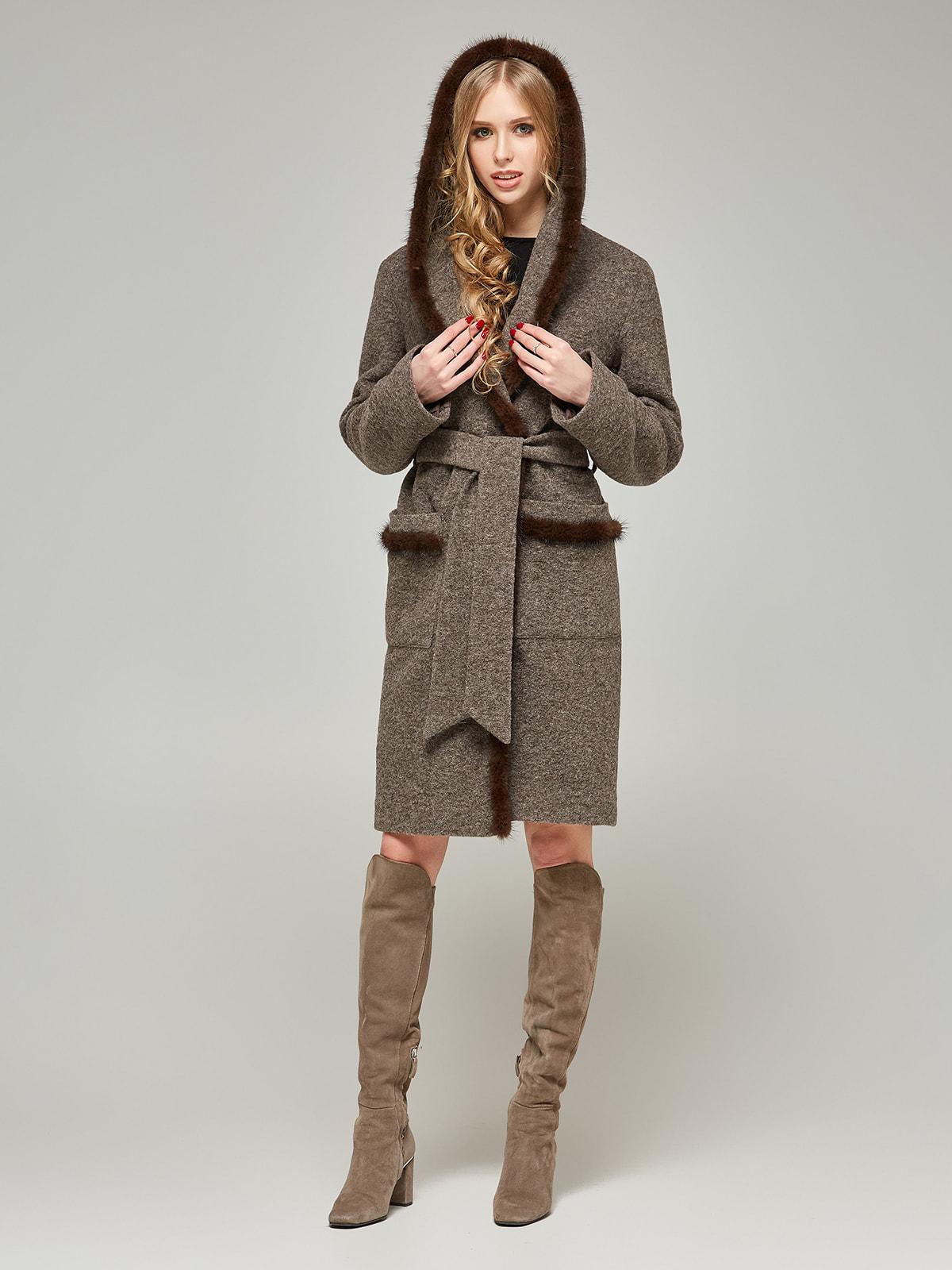 Пальто цвета капучино | 4587968
