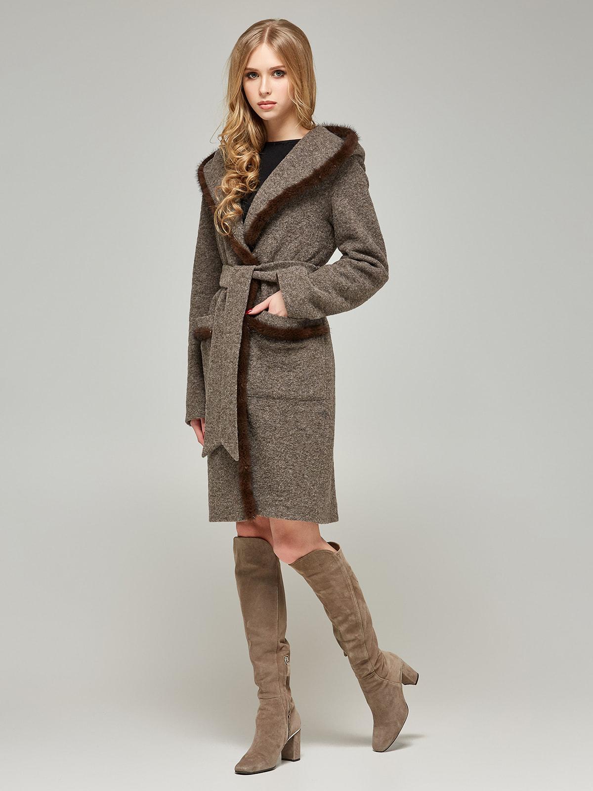 Пальто цвета капучино | 4587968 | фото 2