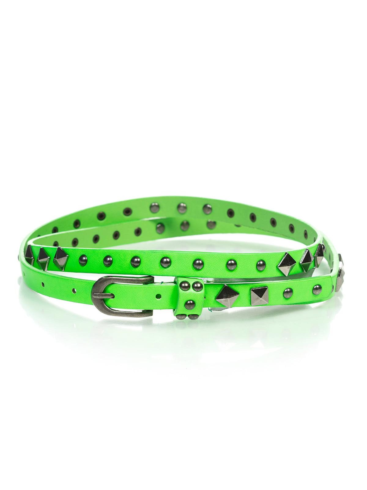 Ремінь яскраво-зелений | 4629035