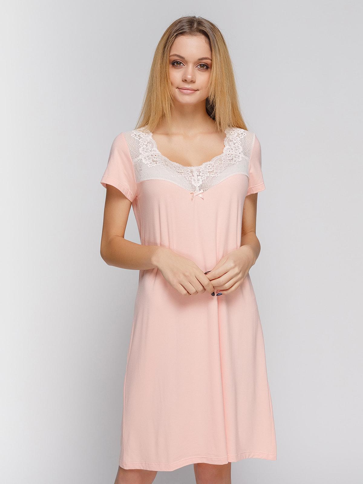 Ночная рубашка персикового цвета | 4712353