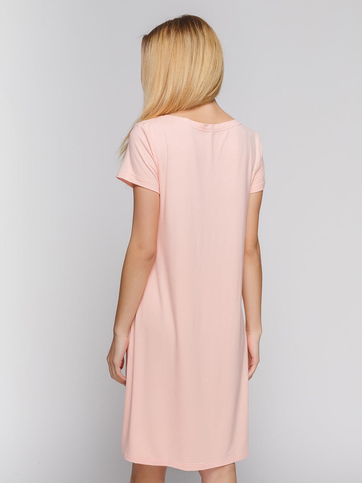 Ночная рубашка персикового цвета | 4712353 | фото 2
