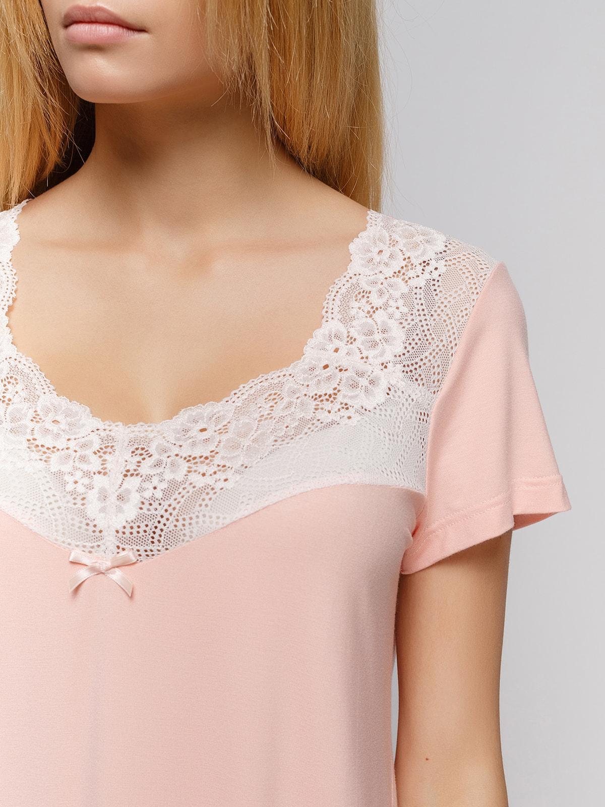 Ночная рубашка персикового цвета | 4712353 | фото 3