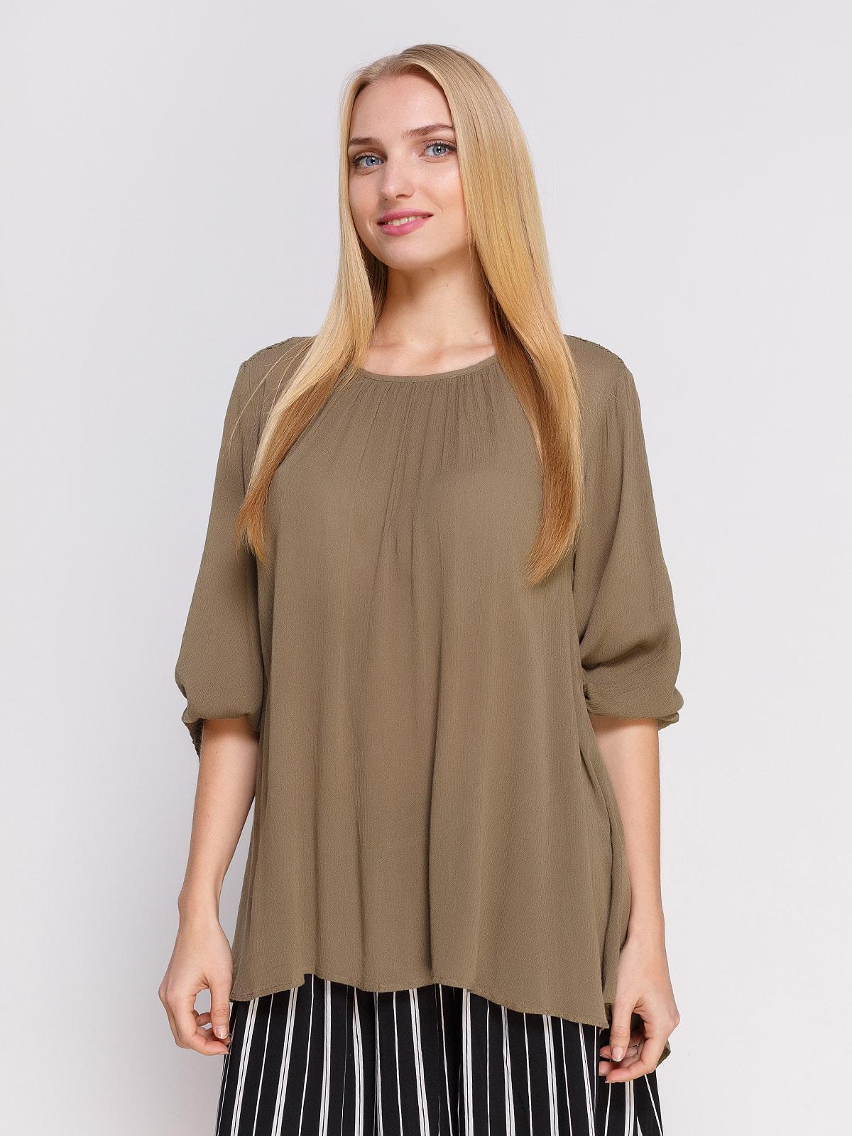 Блуза кольору хакі | 4694956