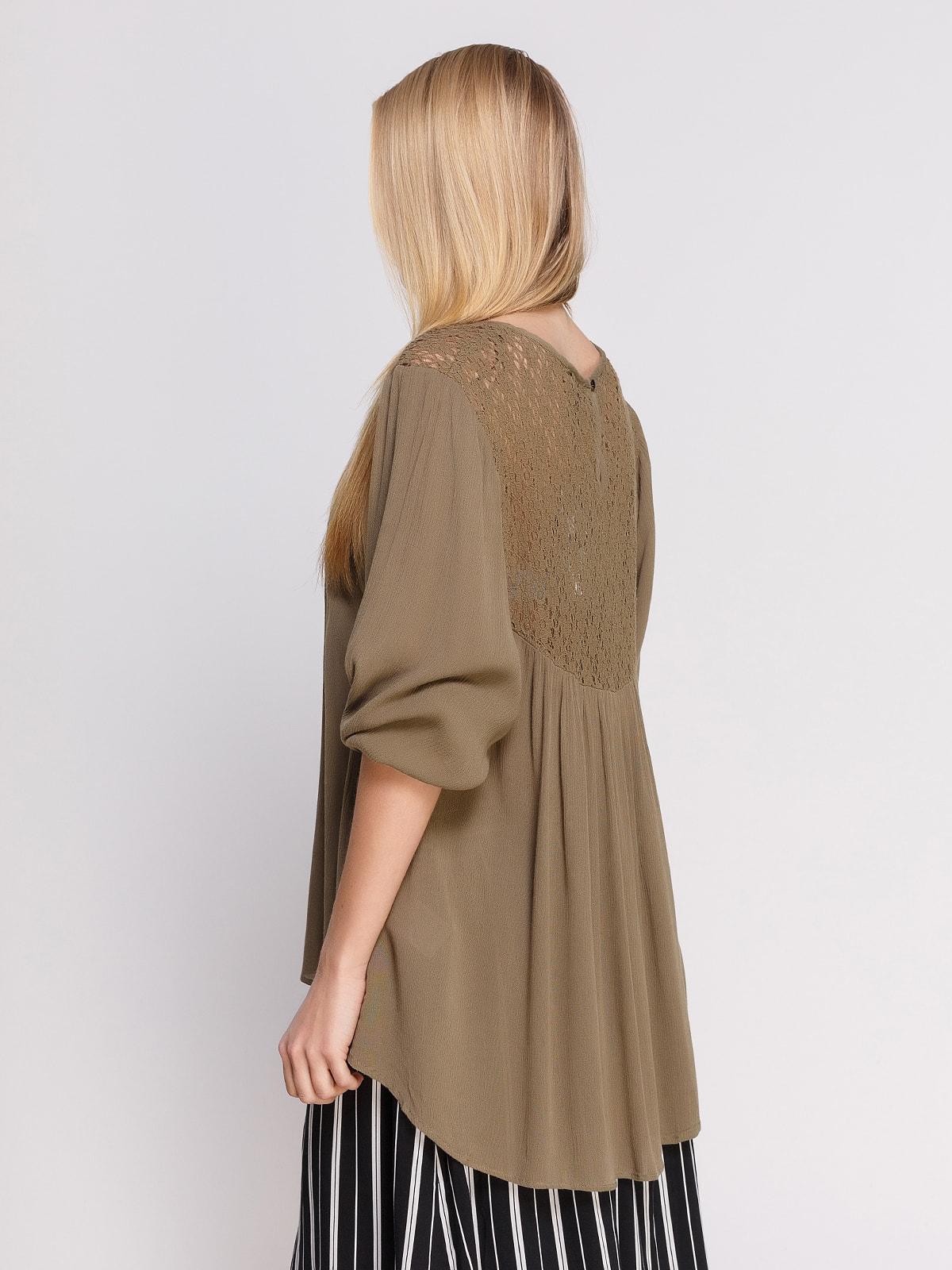 Блуза кольору хакі | 4694956 | фото 2