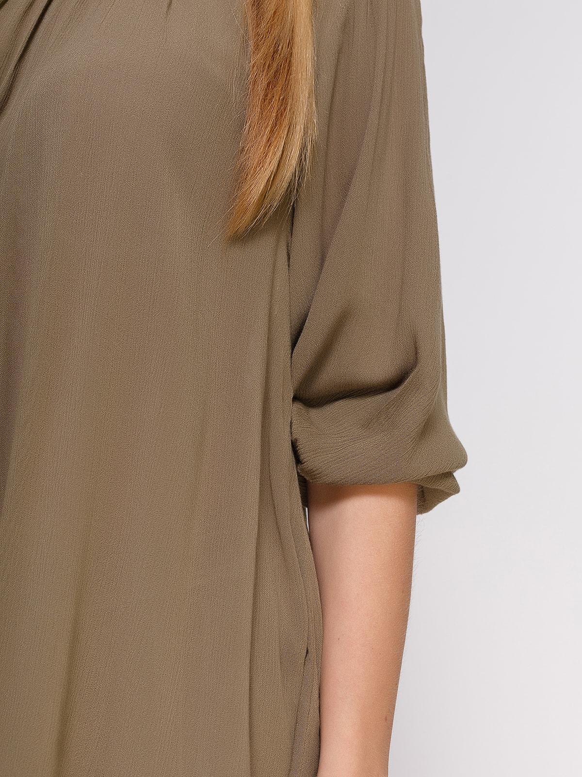 Блуза кольору хакі | 4694956 | фото 3