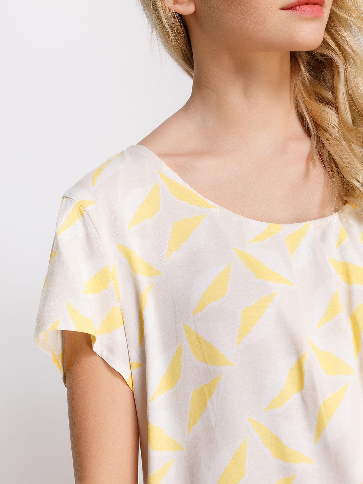 Блуза в принт   4560093   фото 3