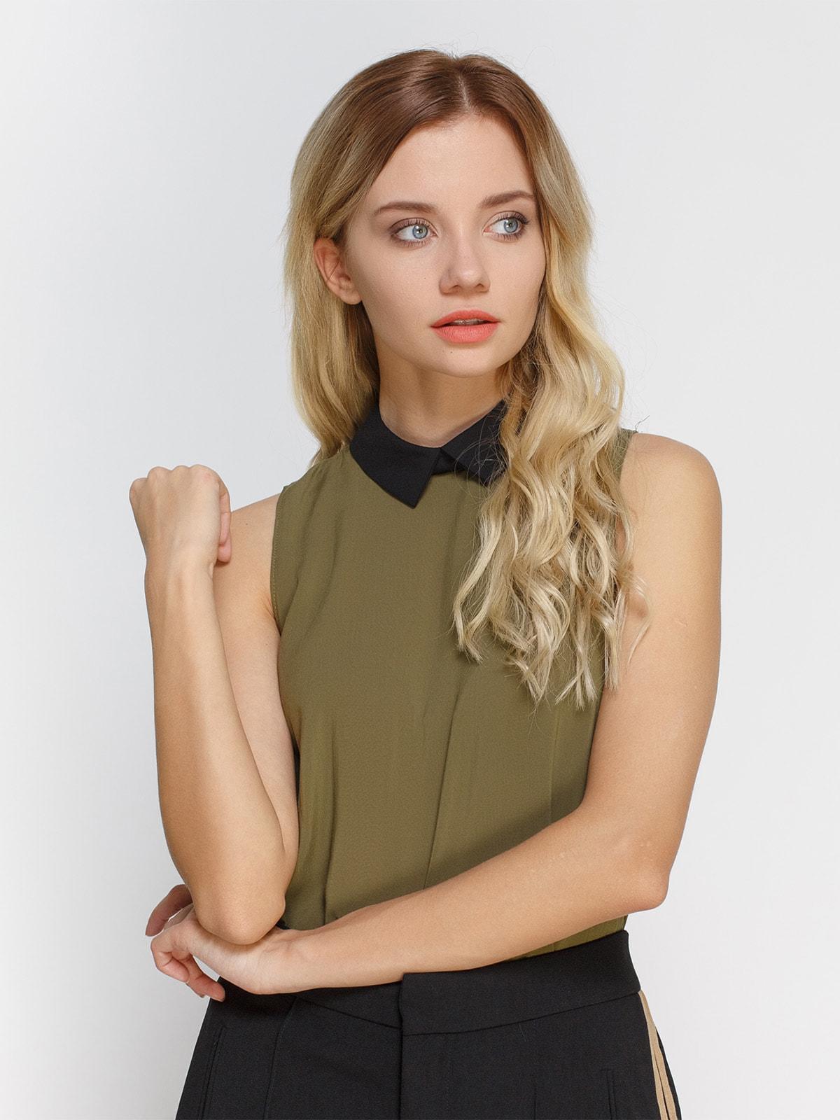 Блуза кольору хакі   3808896