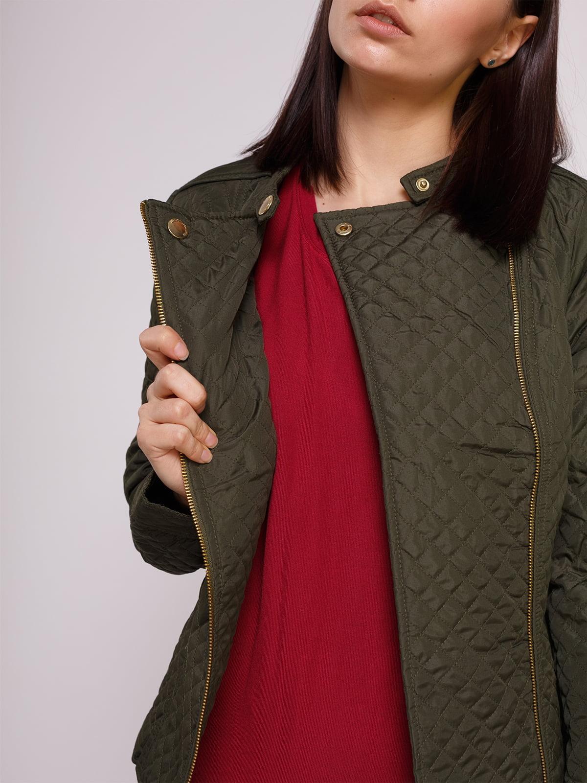 Куртка цвета хаки | 2322496 | фото 4