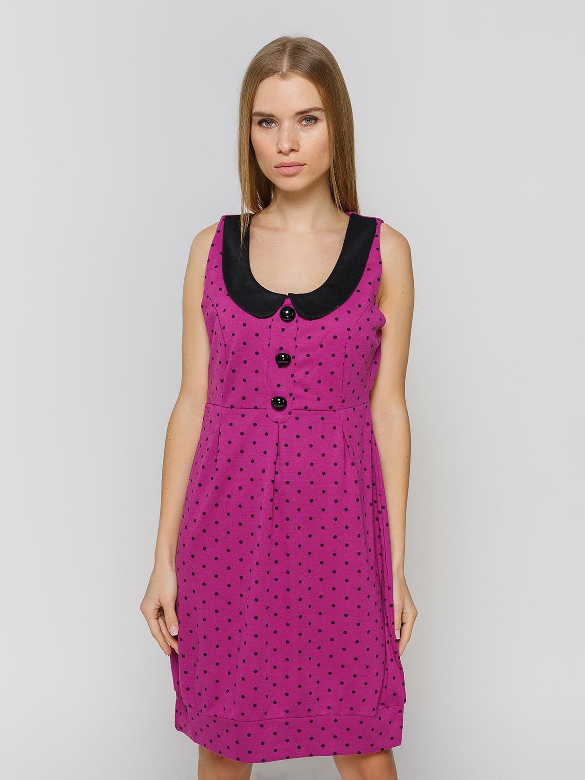 Сукня фіолетова в горох | 2325995