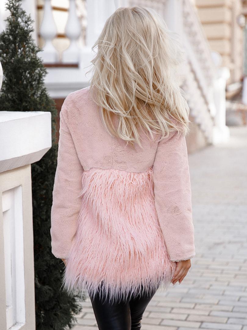 Полушубок розовый | 4726445 | фото 3