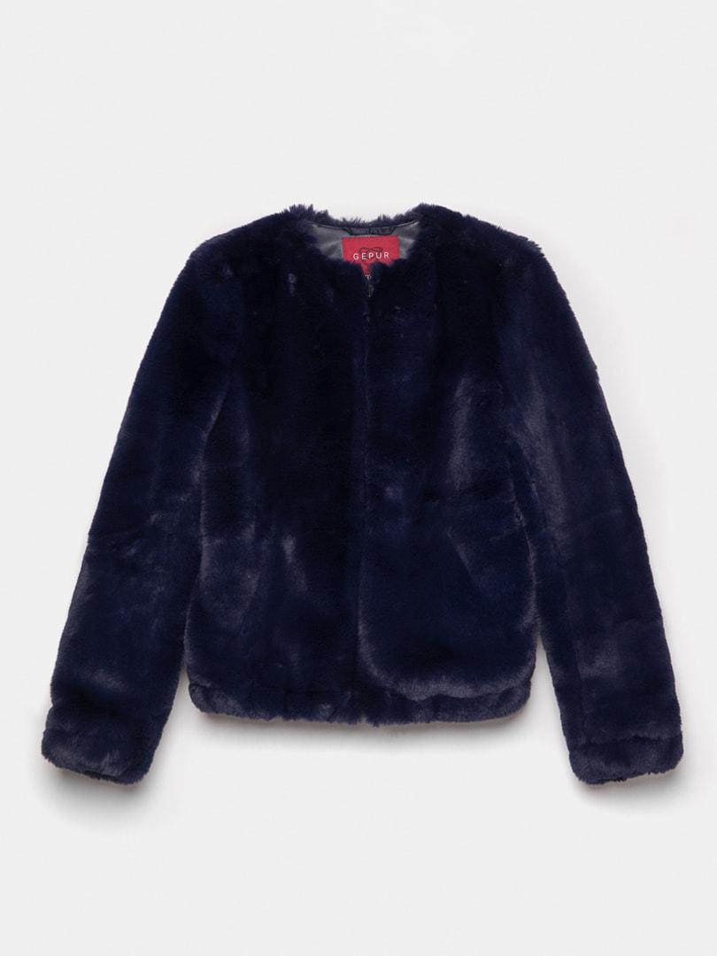Полушубок темно-синий | 4726451 | фото 5