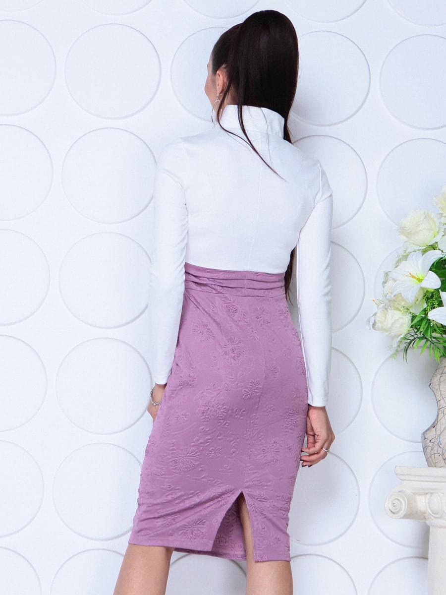 Платье бело-сиреневого цвета | 4729976 | фото 2