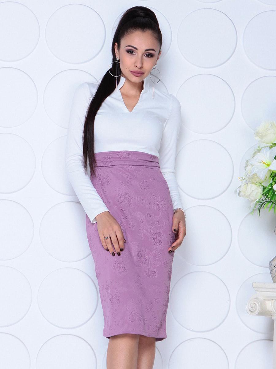 Платье бело-сиреневого цвета | 4729976 | фото 3