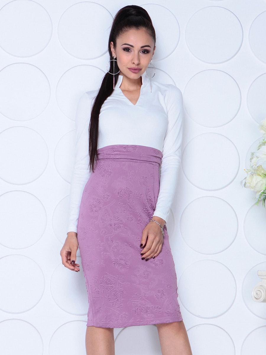 Платье бело-сиреневого цвета | 4729976 | фото 4