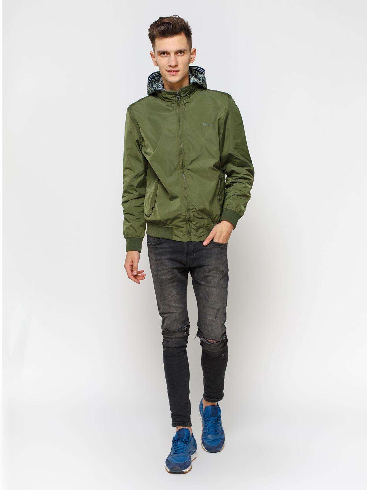 Куртка кольору хакі | 1899605 | фото 2