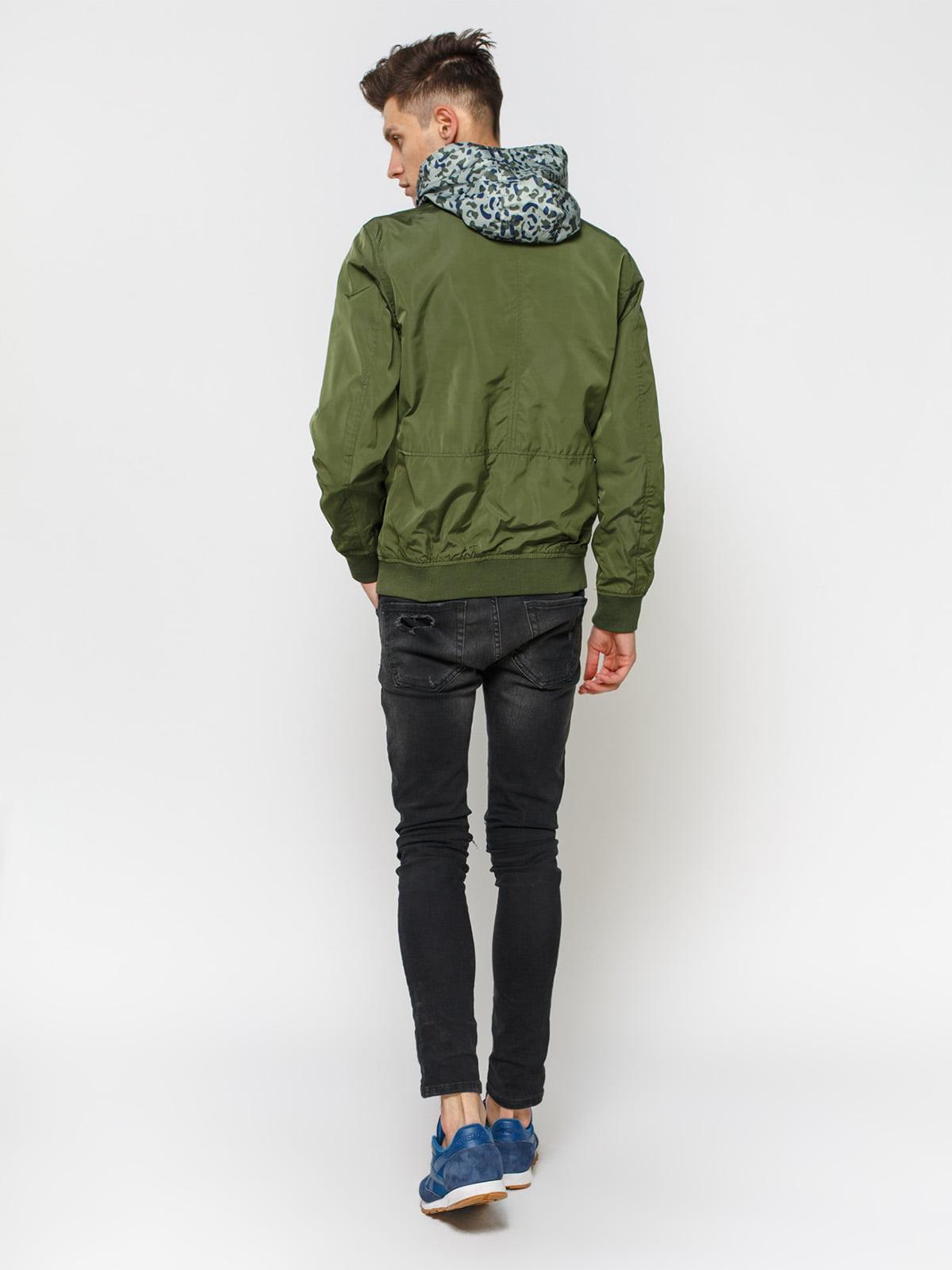 Куртка кольору хакі | 1899605 | фото 3