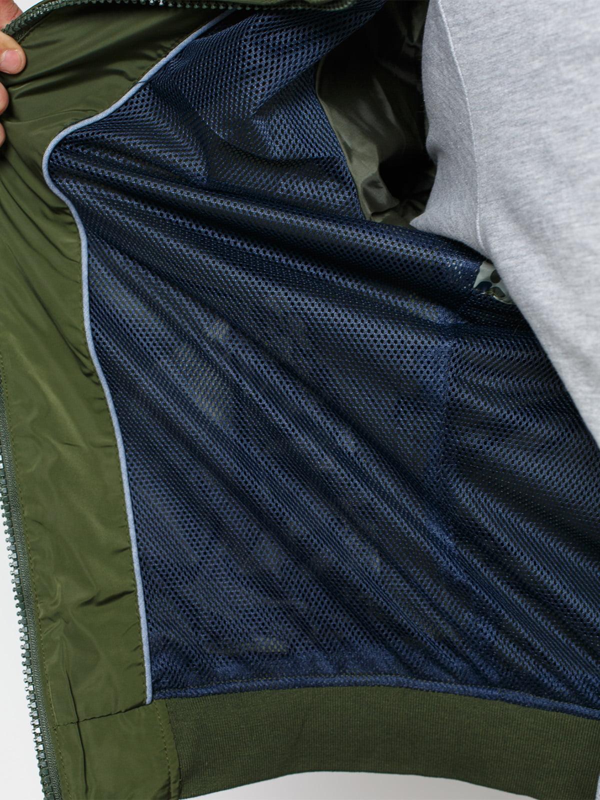 Куртка кольору хакі | 1899605 | фото 4