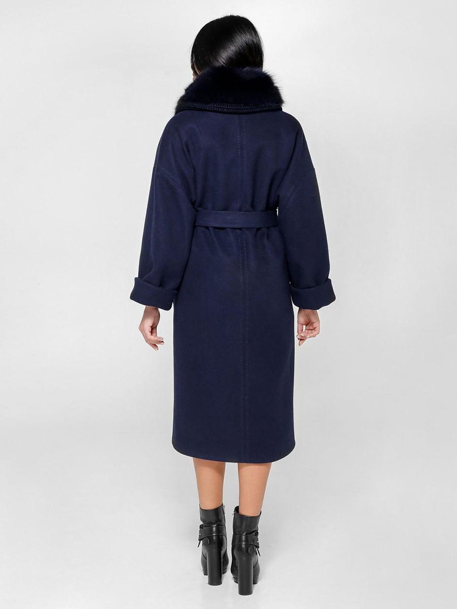 Пальто темно-синее | 4734401 | фото 2