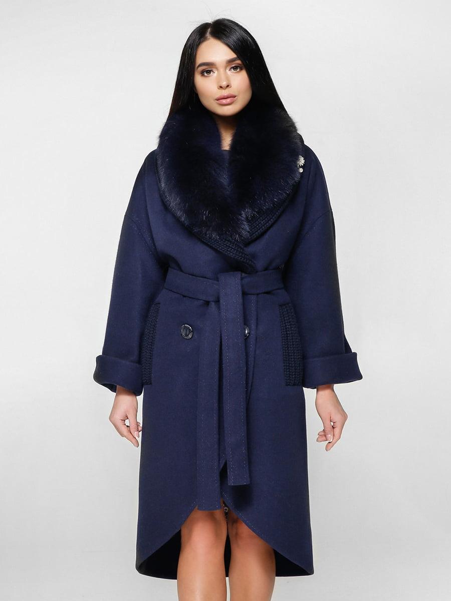 Пальто темно-синее | 4734401 | фото 3