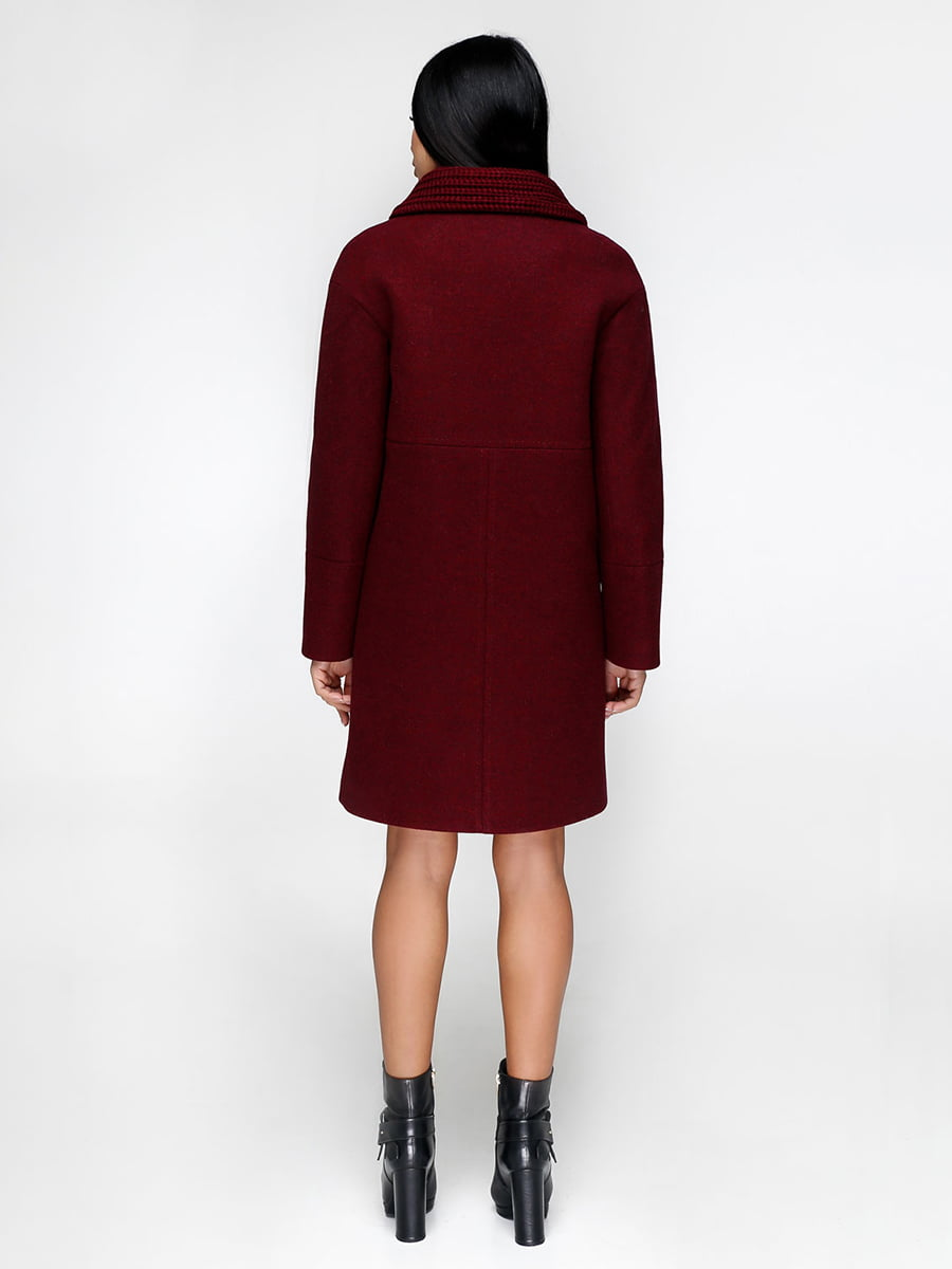 Пальто темно-красное | 4734409 | фото 2