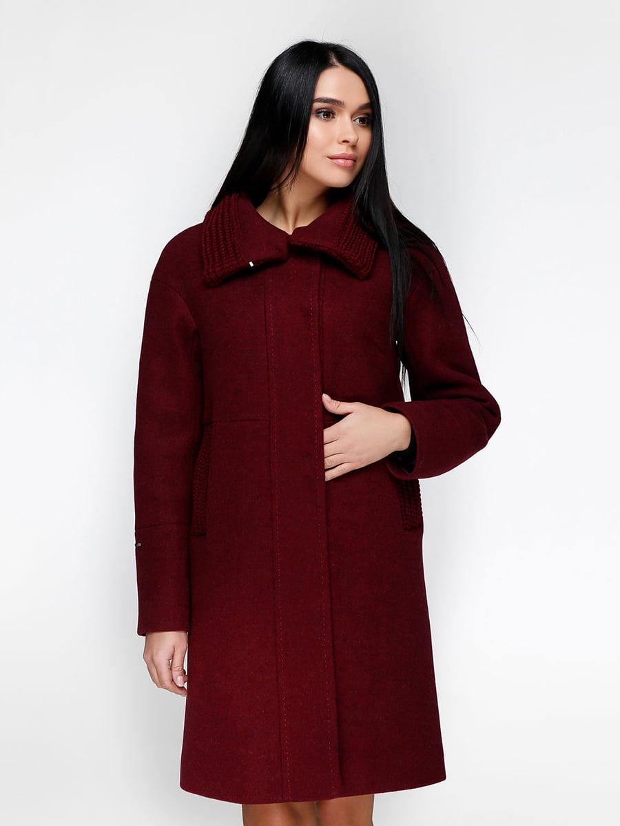 Пальто темно-красное | 4734409 | фото 3