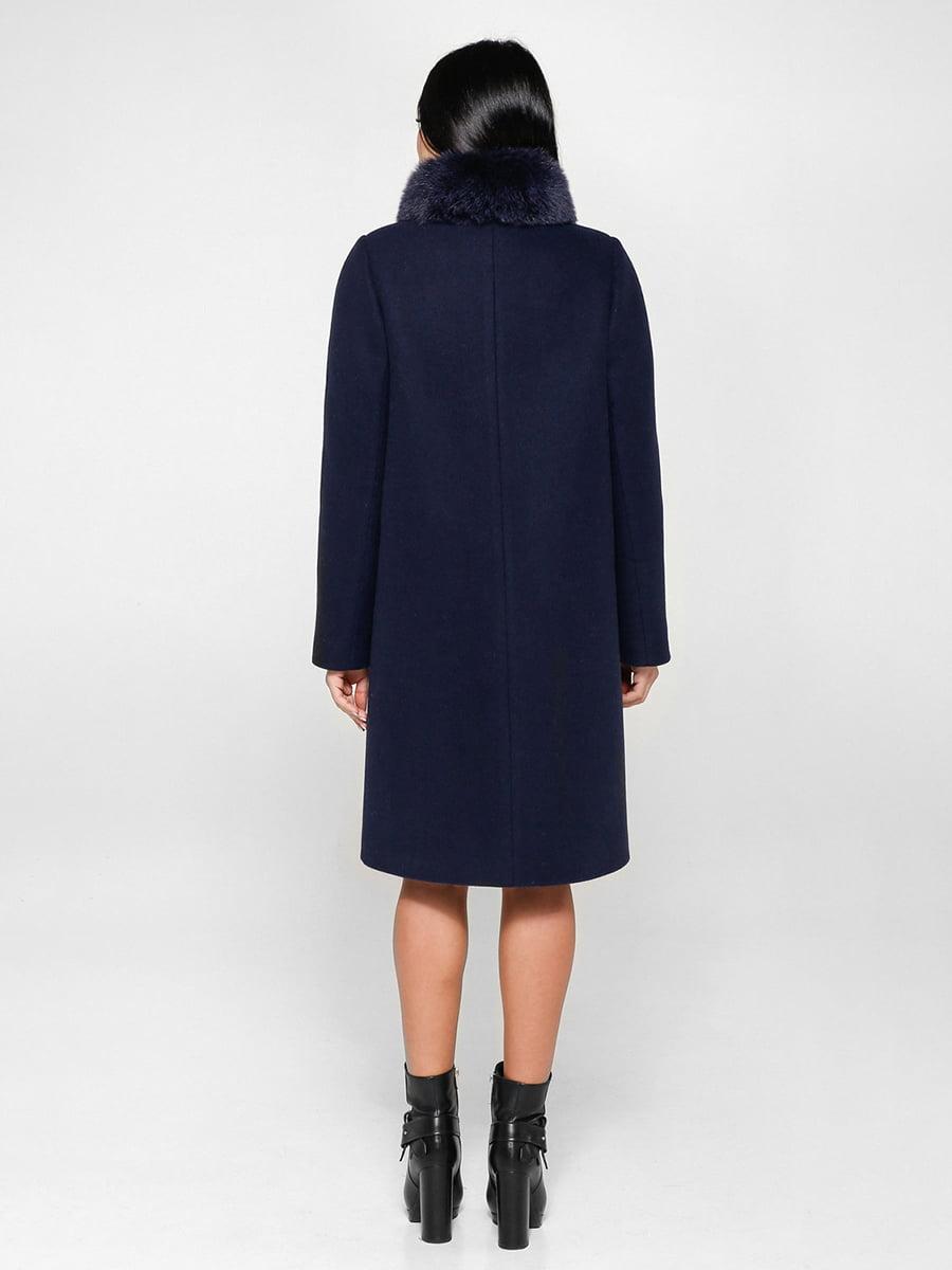 Пальто синее | 4734426 | фото 2