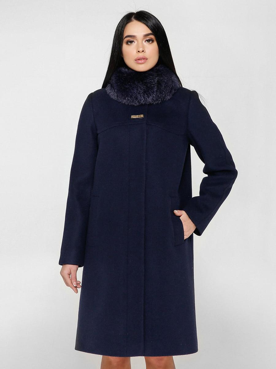Пальто синее | 4734426 | фото 3