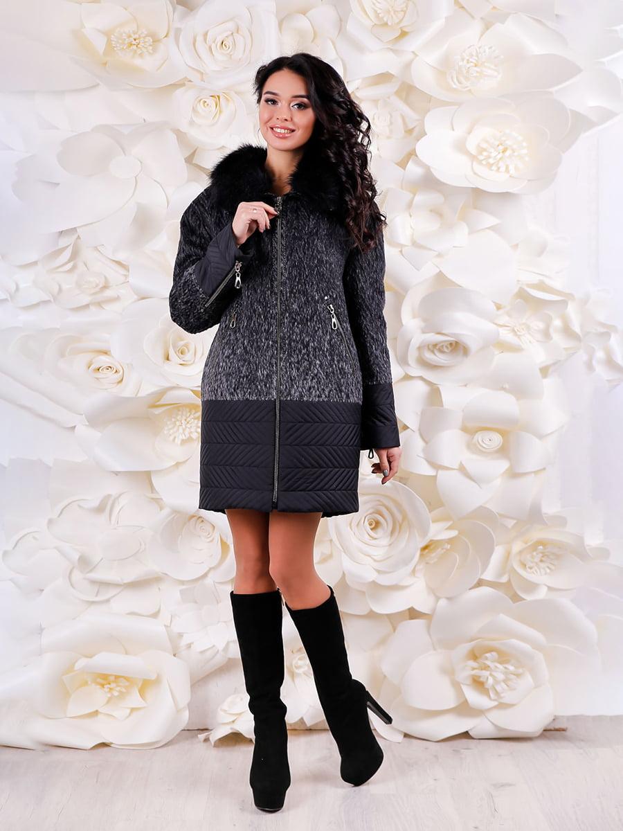 Пальто серо-черное | 4734522