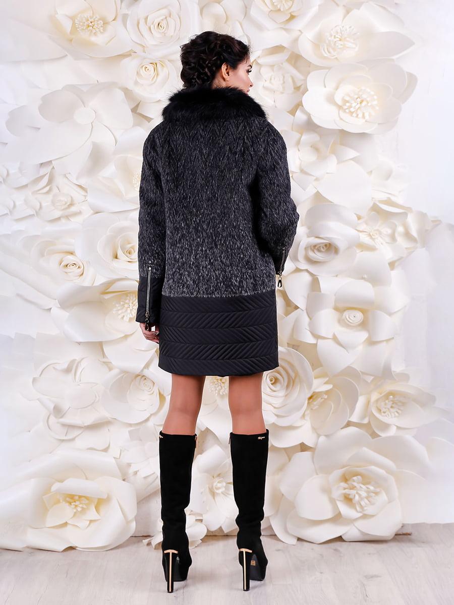 Пальто серо-черное | 4734522 | фото 2