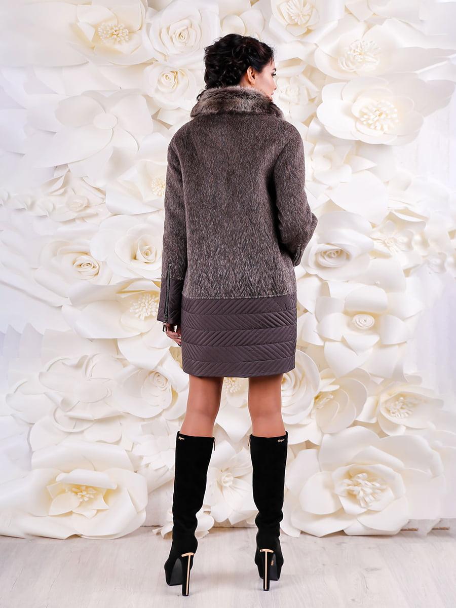 Пальто коричневое | 4734524 | фото 2
