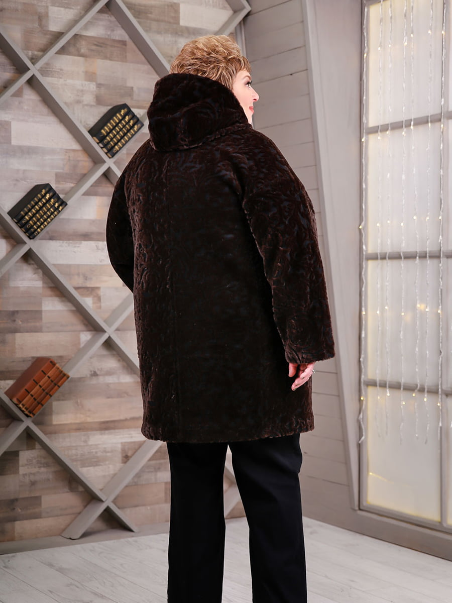 Пальто коричневое | 4734583 | фото 2
